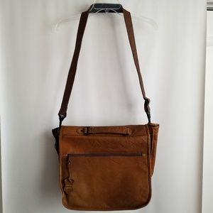 Genuine Leather Brown Laptop Briefcase Bag